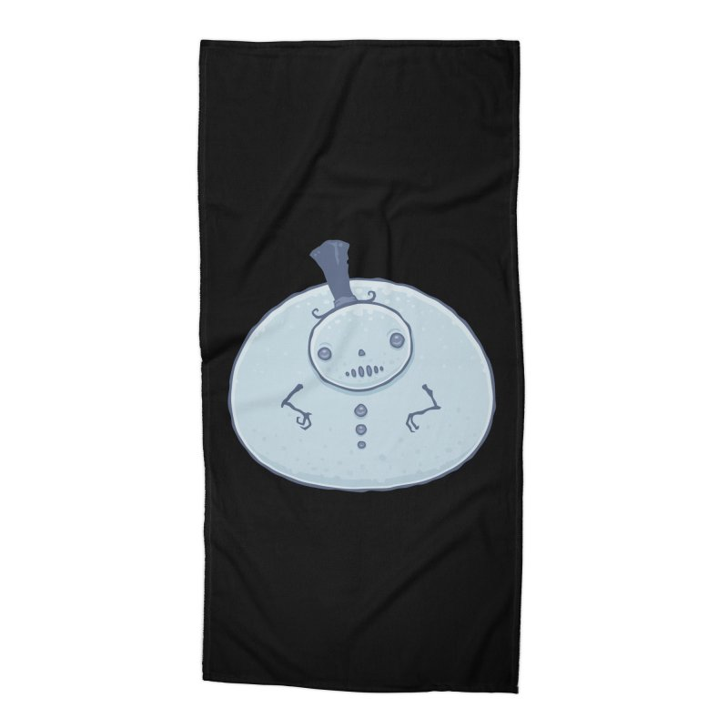 Pudgy Snowman Accessories Beach Towel by Fizzgig's Artist Shop