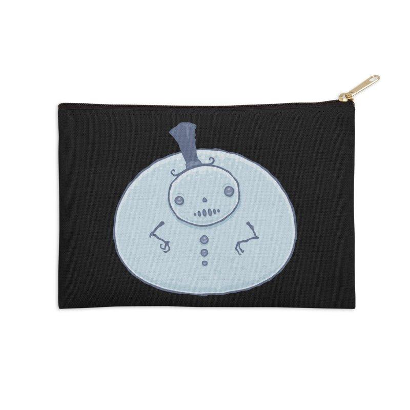 Pudgy Snowman Accessories Zip Pouch by Fizzgig's Artist Shop