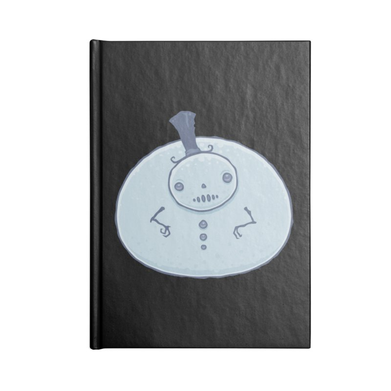 Pudgy Snowman Accessories Lined Journal Notebook by Fizzgig's Artist Shop