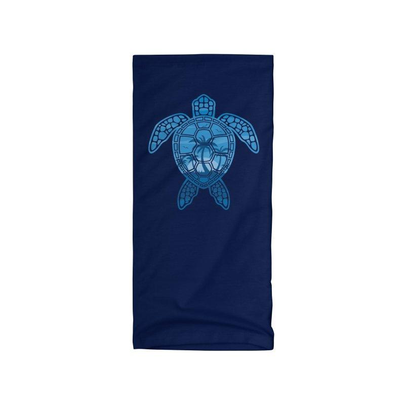 Tropical Island Sea Turtle Design in Blue Accessories Neck Gaiter by Fizzgig's Artist Shop