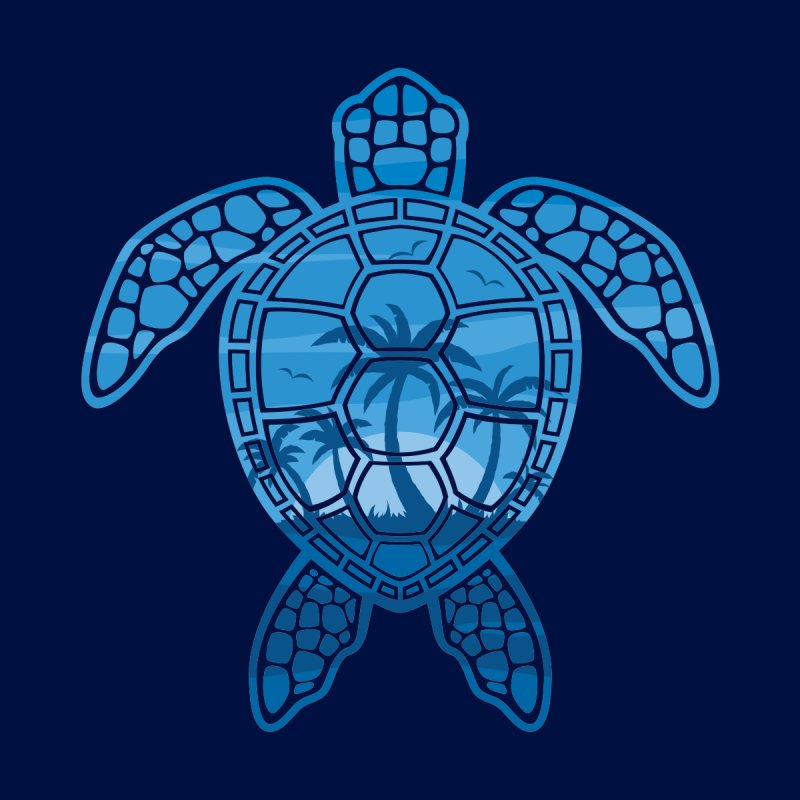 Tropical Island Sea Turtle Design in Blue by Fizzgig's Artist Shop
