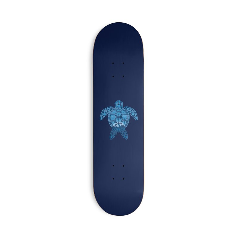 Tropical Island Sea Turtle Design in Blue Accessories Deck Only Skateboard by Fizzgig's Artist Shop