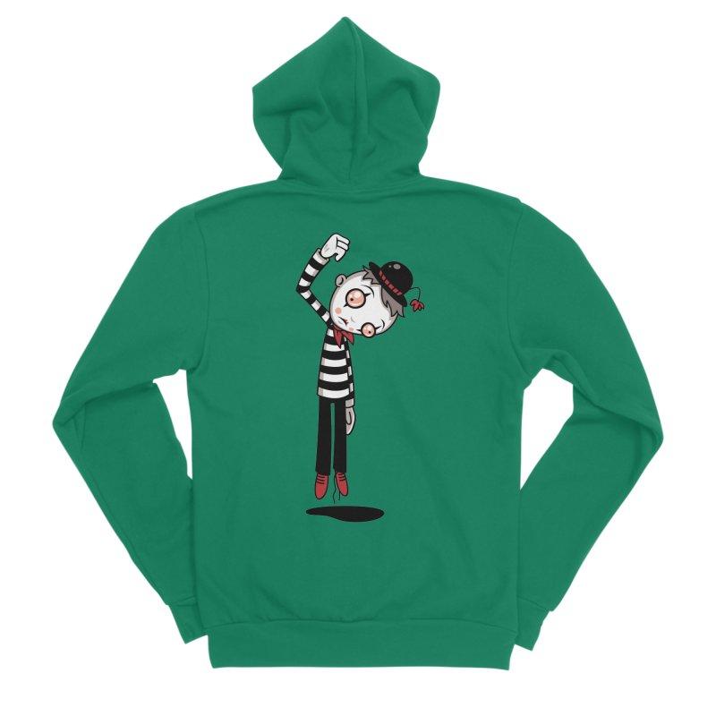 Bestest Mime Ever Men's Sponge Fleece Zip-Up Hoody by Fizzgig's Artist Shop
