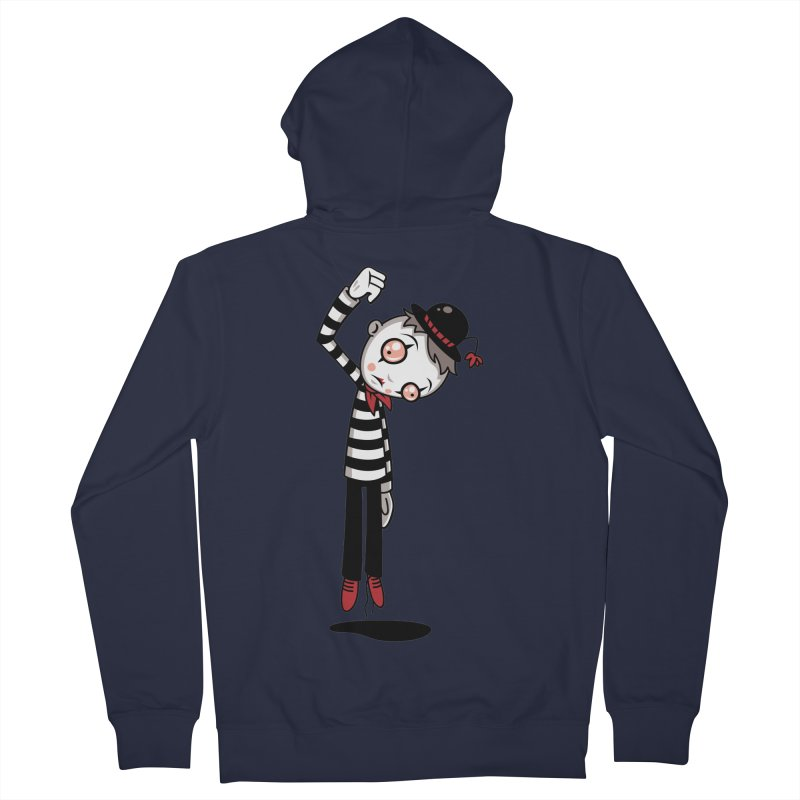 Bestest Mime Ever Men's French Terry Zip-Up Hoody by Fizzgig's Artist Shop