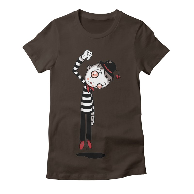 Bestest Mime Ever Women's Fitted T-Shirt by Fizzgig's Artist Shop