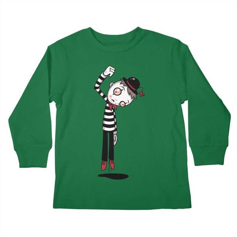 Bestest Mime Ever Kids Longsleeve T-Shirt by Fizzgig's Artist Shop