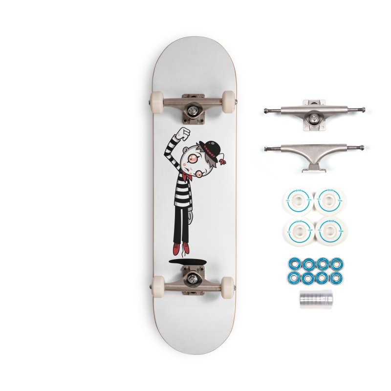 Bestest Mime Ever Accessories Complete - Basic Skateboard by Fizzgig's Artist Shop