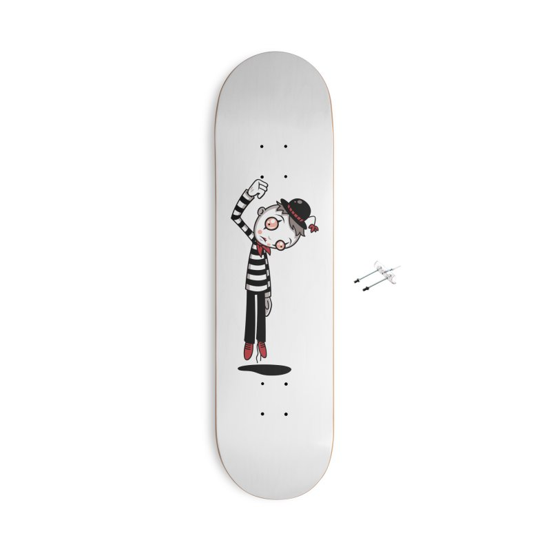 Bestest Mime Ever Accessories With Hanging Hardware Skateboard by Fizzgig's Artist Shop