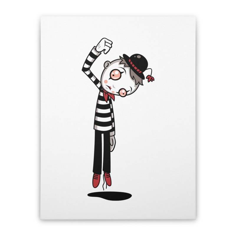 Bestest Mime Ever Home Stretched Canvas by Fizzgig's Artist Shop