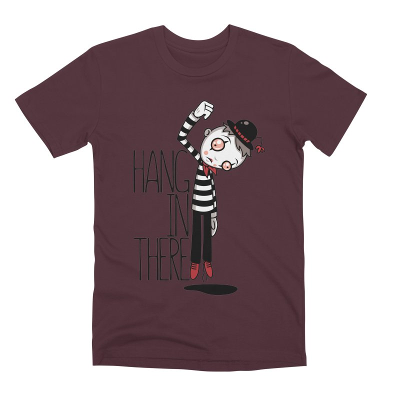 Hang In There Mime Men's Premium T-Shirt by Fizzgig's Artist Shop