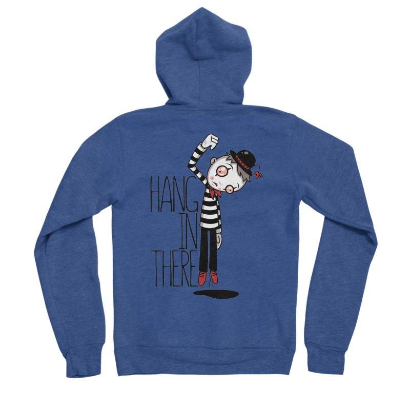Hang In There Mime Women's Sponge Fleece Zip-Up Hoody by Fizzgig's Artist Shop