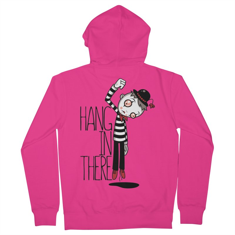 Hang In There Mime Men's French Terry Zip-Up Hoody by Fizzgig's Artist Shop