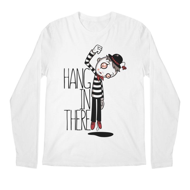 Hang In There Mime Men's Regular Longsleeve T-Shirt by Fizzgig's Artist Shop
