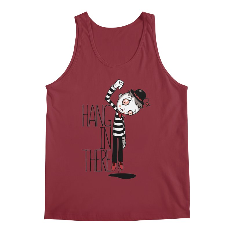 Hang In There Mime Men's Regular Tank by Fizzgig's Artist Shop