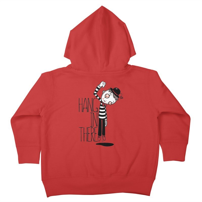 Hang In There Mime Kids Toddler Zip-Up Hoody by Fizzgig's Artist Shop