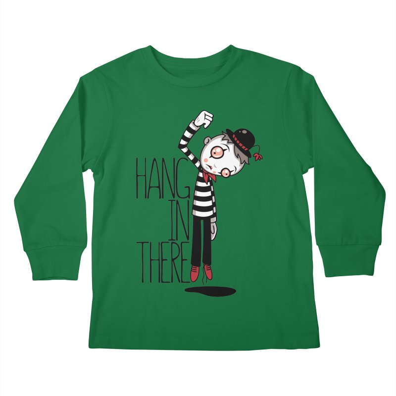Hang In There Mime Kids Longsleeve T-Shirt by Fizzgig's Artist Shop