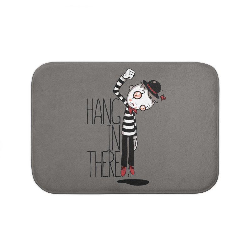 Hang In There Mime Home Bath Mat by Fizzgig's Artist Shop
