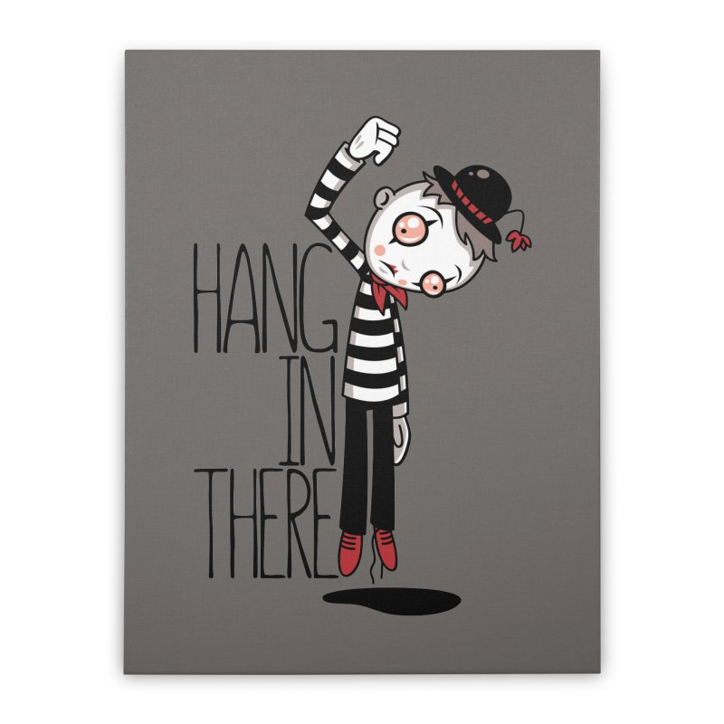 Hang In There Mime Home Stretched Canvas by Fizzgig's Artist Shop