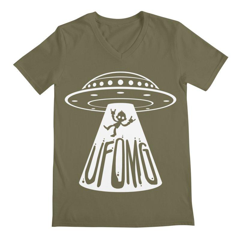 UFOMG Men's Regular V-Neck by Fizzgig's Artist Shop
