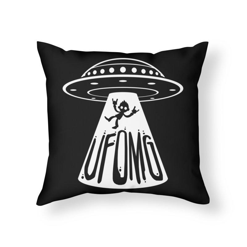 UFOMG Home Throw Pillow by Fizzgig's Artist Shop