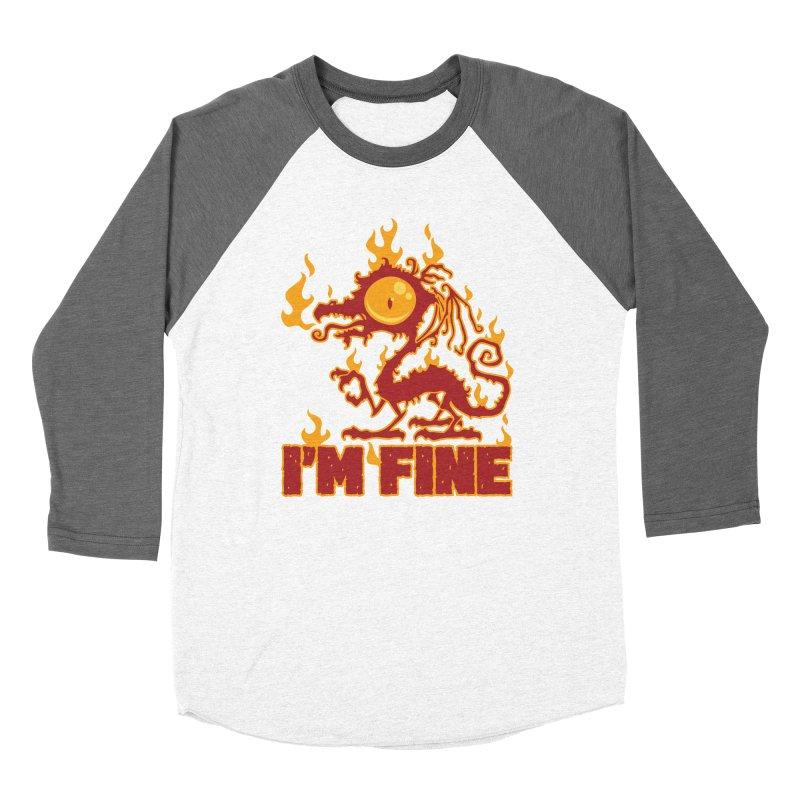 I'm Fine Burning Dragon Women's Longsleeve T-Shirt by Fizzgig's Artist Shop