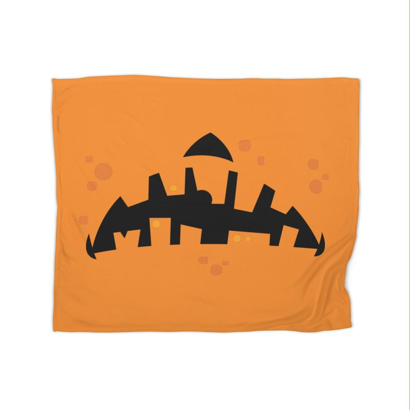 Pumpkin Zombie Mouth Home Blanket by Fizzgig's Artist Shop