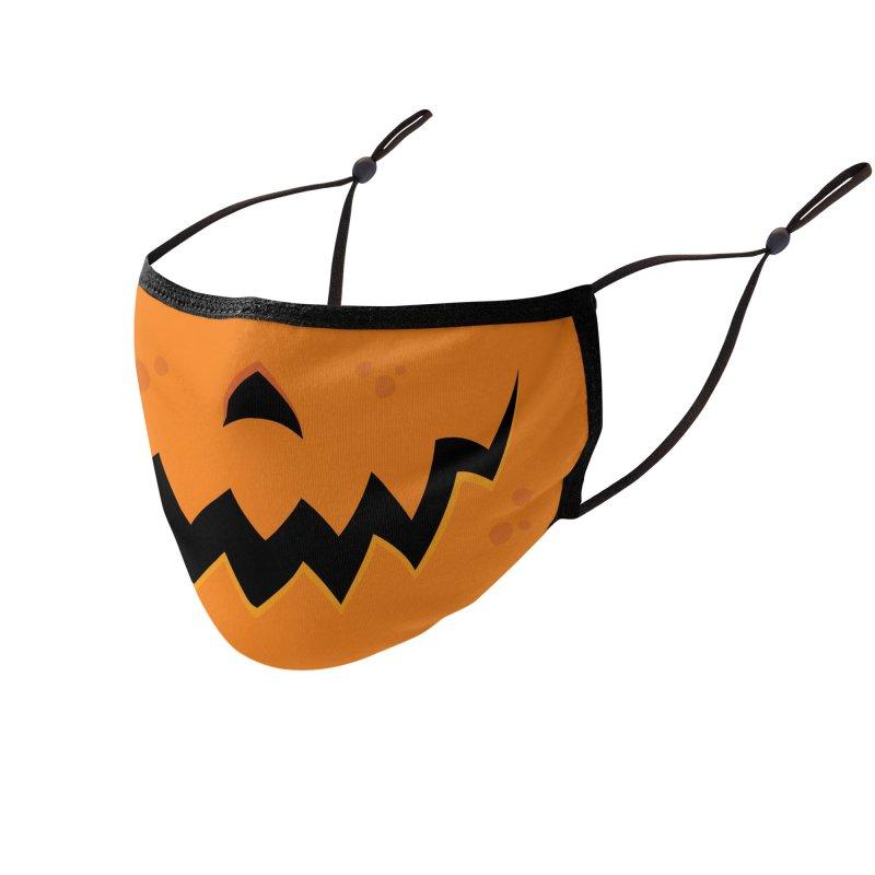 Crazy Pumpkin Jack-O-Lantern Mouth Accessories Face Mask by Fizzgig's Artist Shop