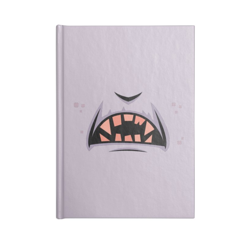 Creepy Count Dracula Vampire Mouth Accessories Notebook by Fizzgig's Artist Shop