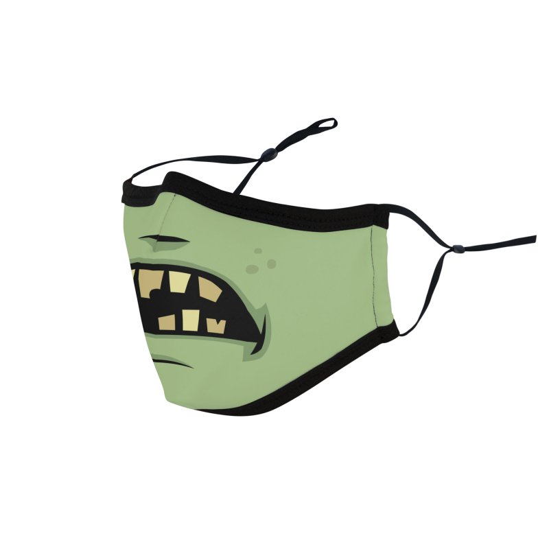Zombie Frankenstein Monster Mouth Accessories Face Mask by Fizzgig's Artist Shop