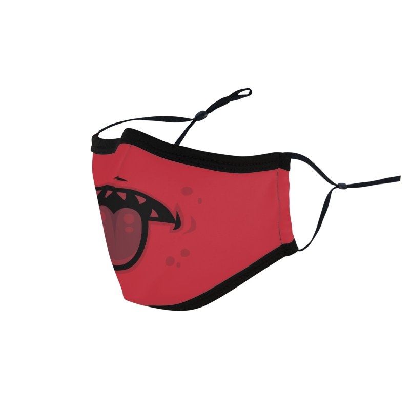 Evil Demon Mouth with Tongue Accessories Face Mask by Fizzgig's Artist Shop