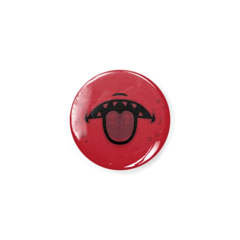 Evil Demon Mouth with Tongue Accessories Button by Fizzgig's Artist Shop