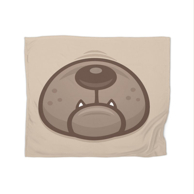 Pug Puppy Dog Snout and Mouth Home Blanket by Fizzgig's Artist Shop