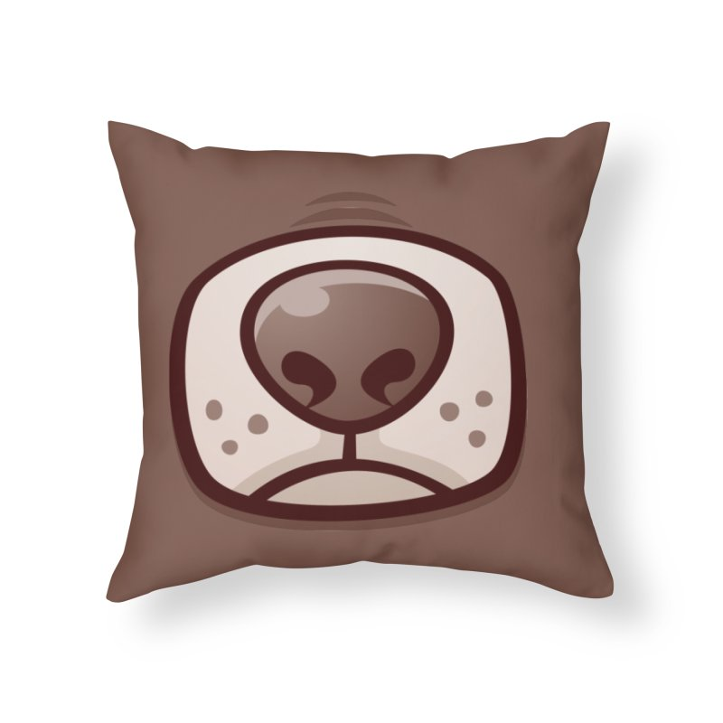 Boston Terrier Puppy Dog Snout and Mouth Home Throw Pillow by Fizzgig's Artist Shop