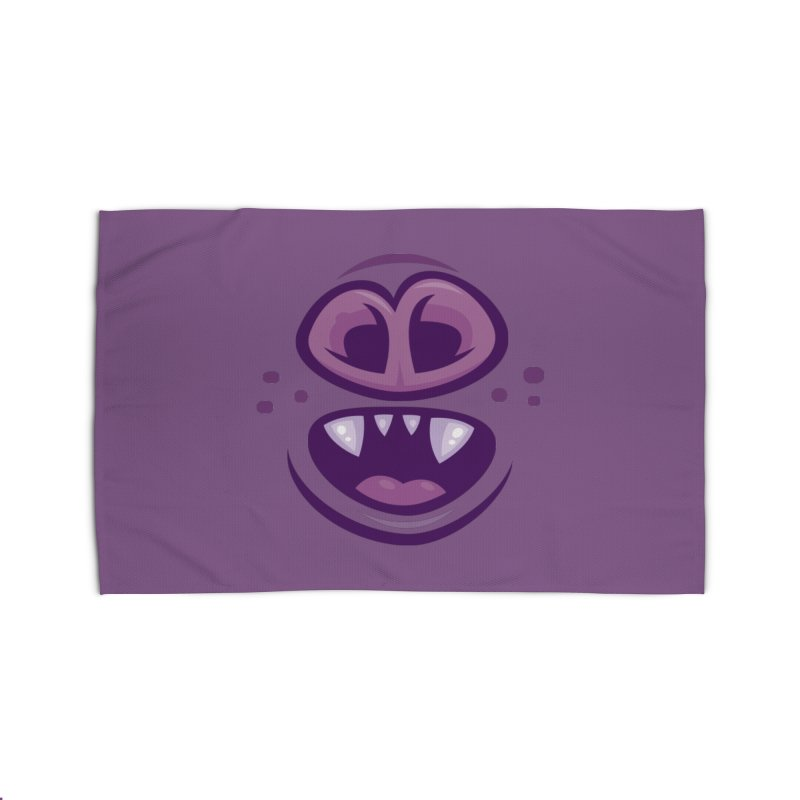 Wacky Vampire Bat Mouth and Nose Home Rug by Fizzgig's Artist Shop