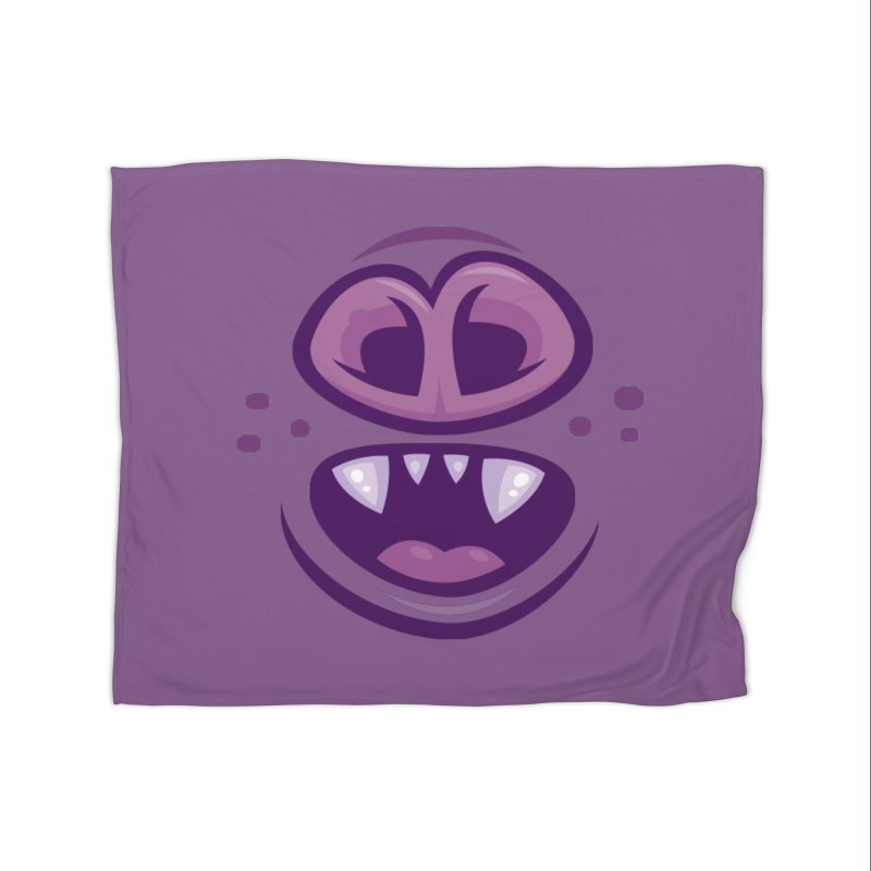 Wacky Vampire Bat Mouth and Nose Home Blanket by Fizzgig's Artist Shop