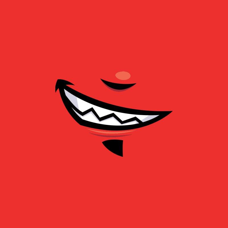 Devilish Grin Cartoon Mouth Home Rug by Fizzgig's Artist Shop