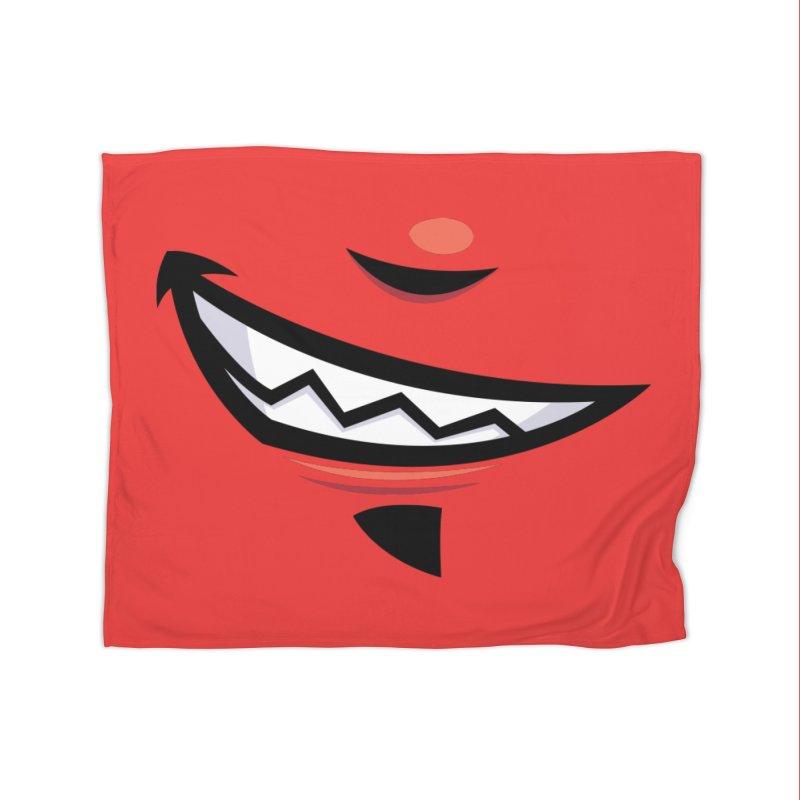Devilish Grin Cartoon Mouth Home Blanket by Fizzgig's Artist Shop