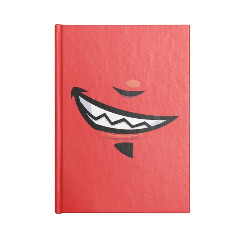 Devilish Grin Cartoon Mouth Accessories Notebook by Fizzgig's Artist Shop