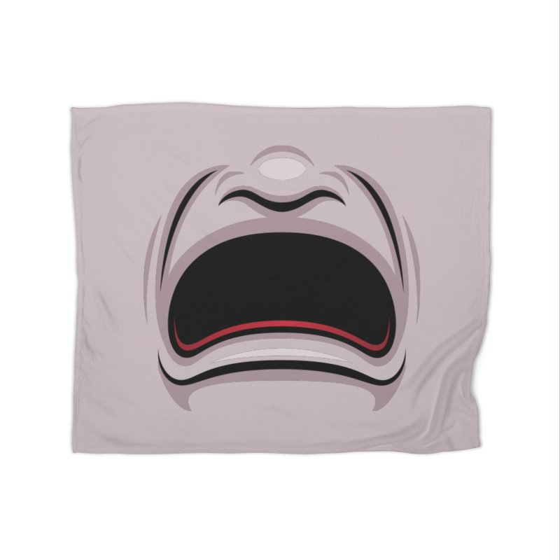 Tragedy Theater Mask Home Blanket by Fizzgig's Artist Shop