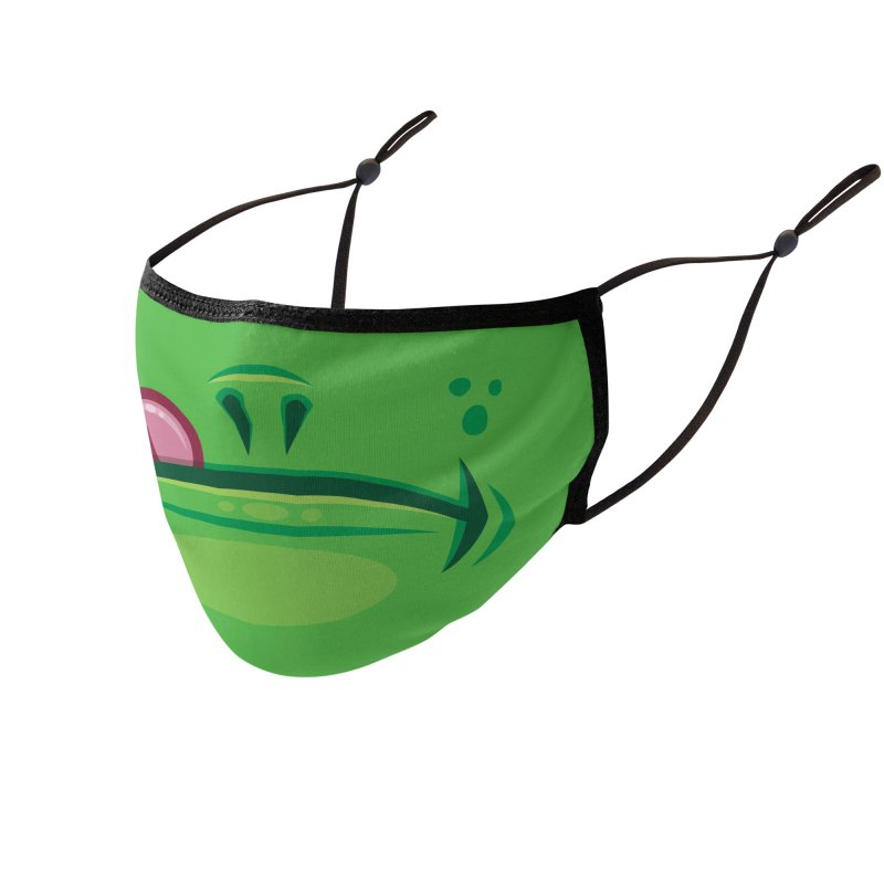Cartoon Frog Mouth with Tongue Accessories Face Mask by Fizzgig's Artist Shop