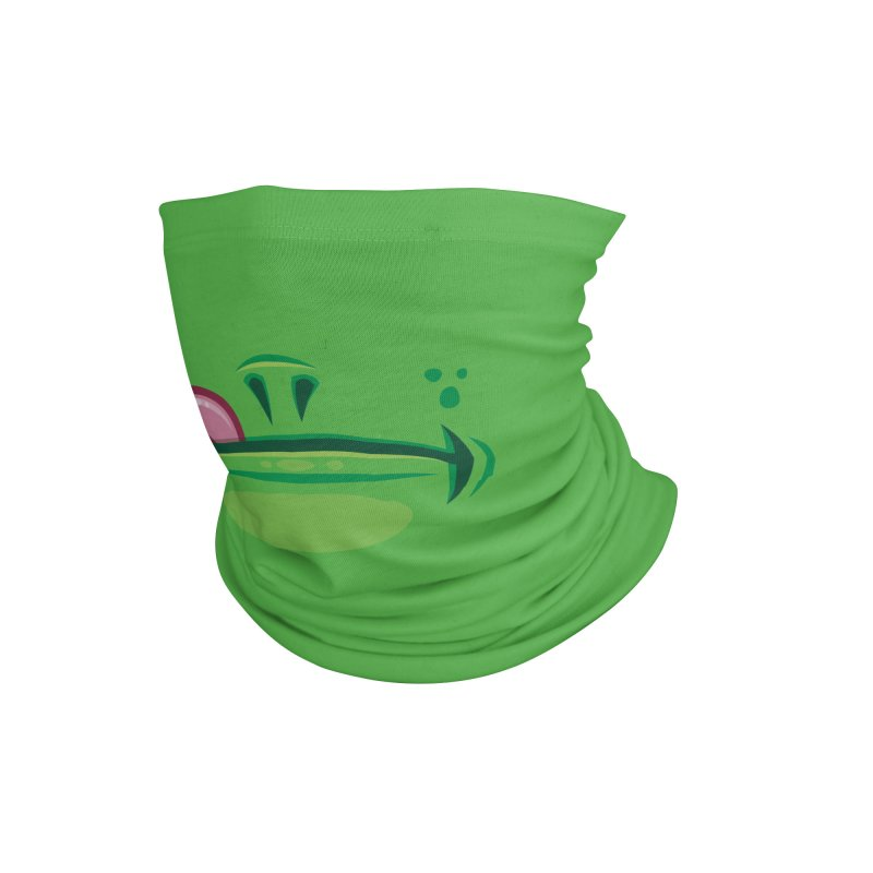 Cartoon Frog Mouth with Tongue Accessories Neck Gaiter by Fizzgig's Artist Shop