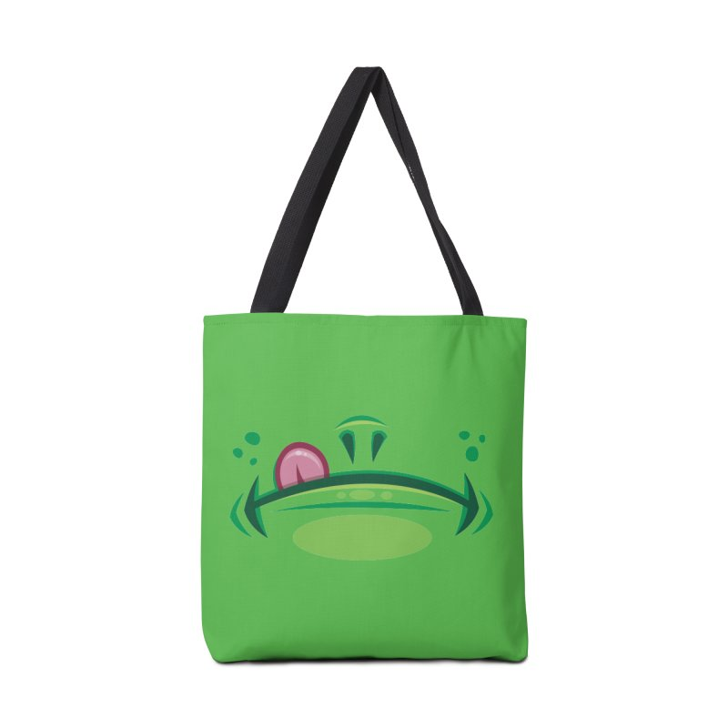 Cartoon Frog Mouth with Tongue Accessories Bag by Fizzgig's Artist Shop