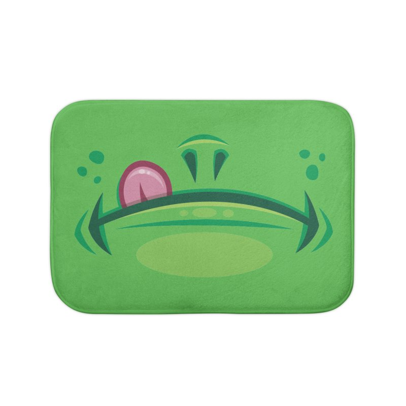 Cartoon Frog Mouth with Tongue Home Bath Mat by Fizzgig's Artist Shop