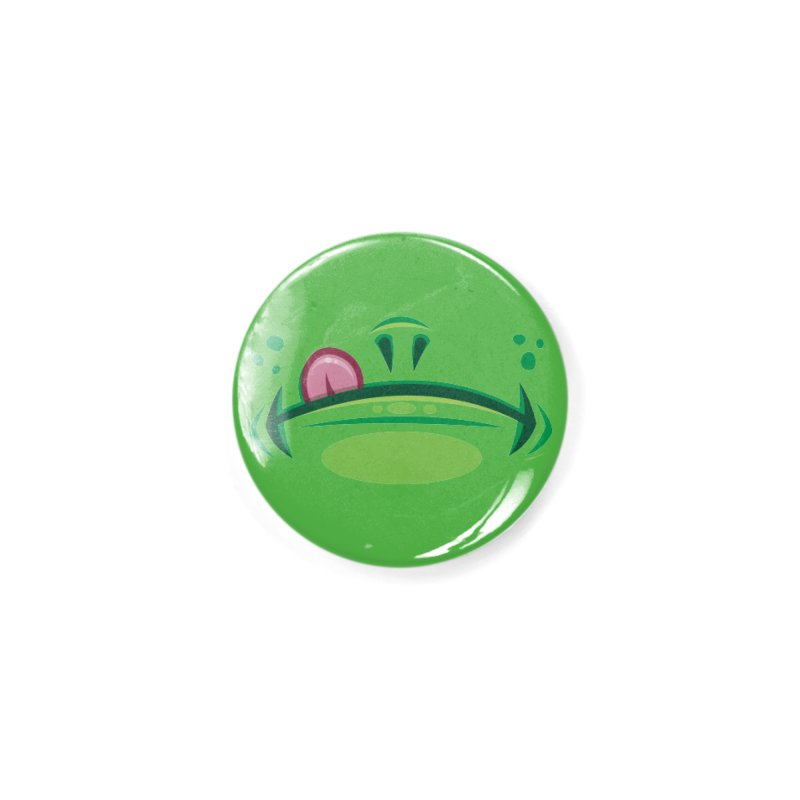Cartoon Frog Mouth with Tongue Accessories Button by Fizzgig's Artist Shop