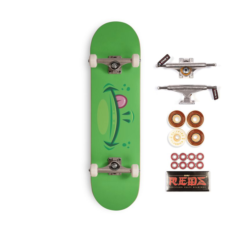Cartoon Frog Mouth with Tongue Accessories Skateboard by Fizzgig's Artist Shop