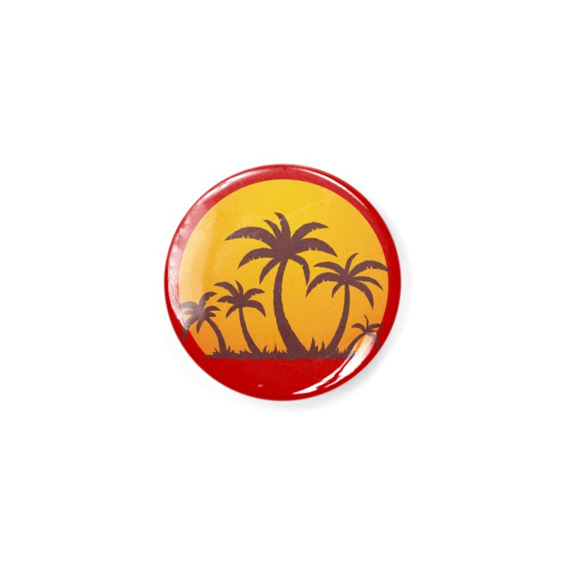 Palm Trees and Sunset Accessories Button by Fizzgig's Artist Shop