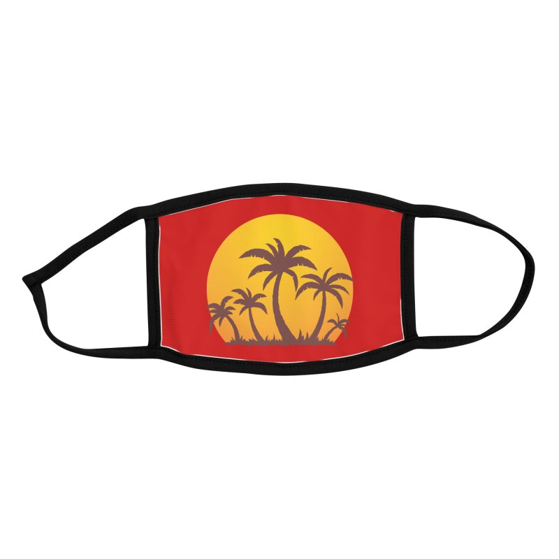 Palm Trees and Sunset Accessories Face Mask by Fizzgig's Artist Shop