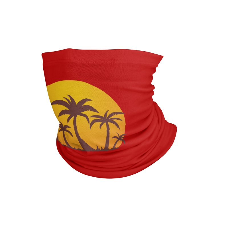Palm Trees and Sunset Accessories Neck Gaiter by Fizzgig's Artist Shop