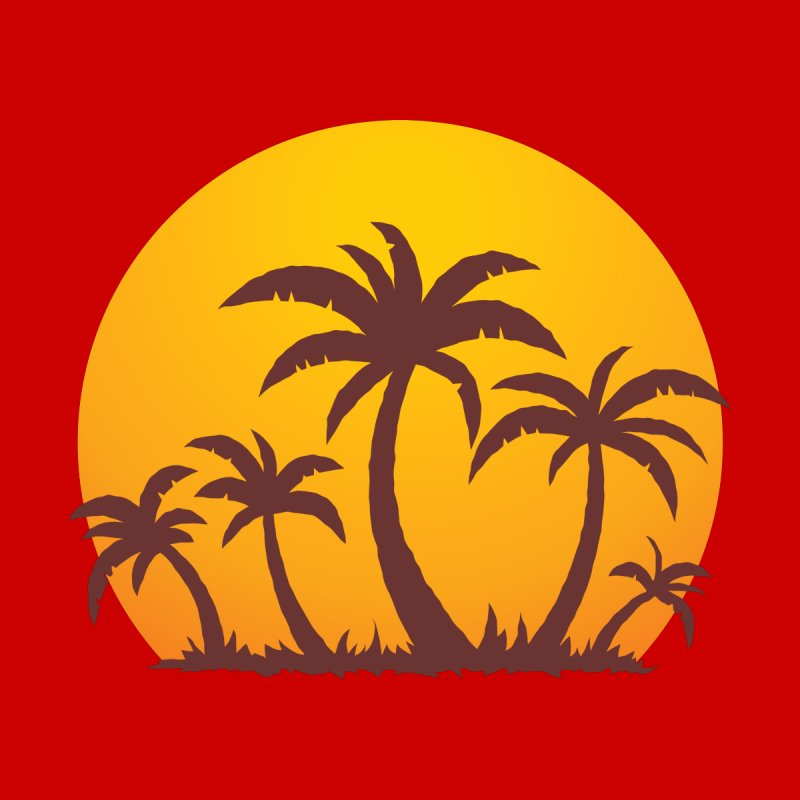 Palm Trees and Sunset Men's T-Shirt by Fizzgig's Artist Shop