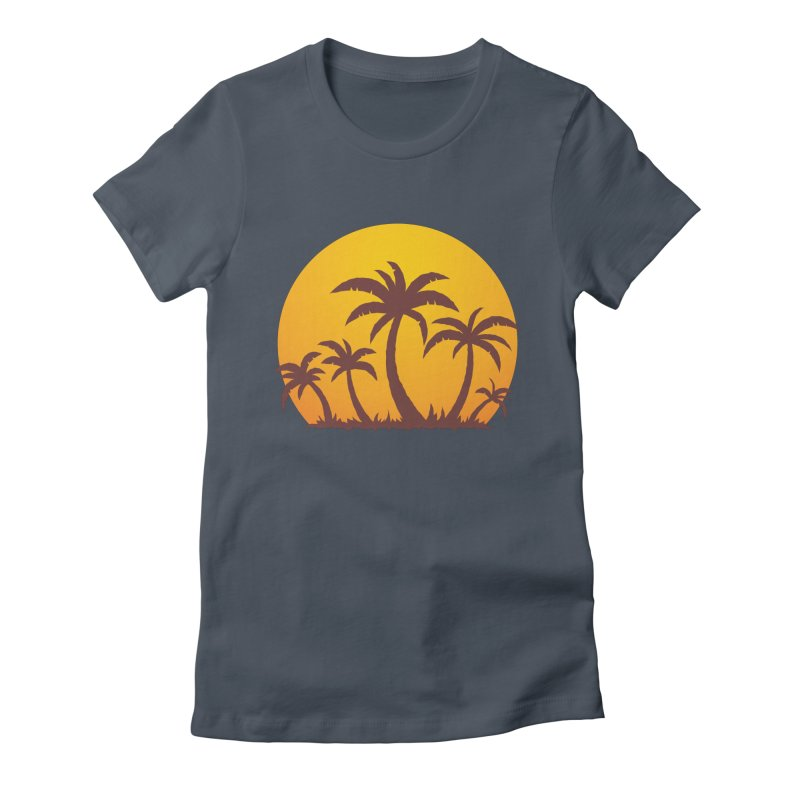 Palm Trees and Sunset Women's T-Shirt by Fizzgig's Artist Shop